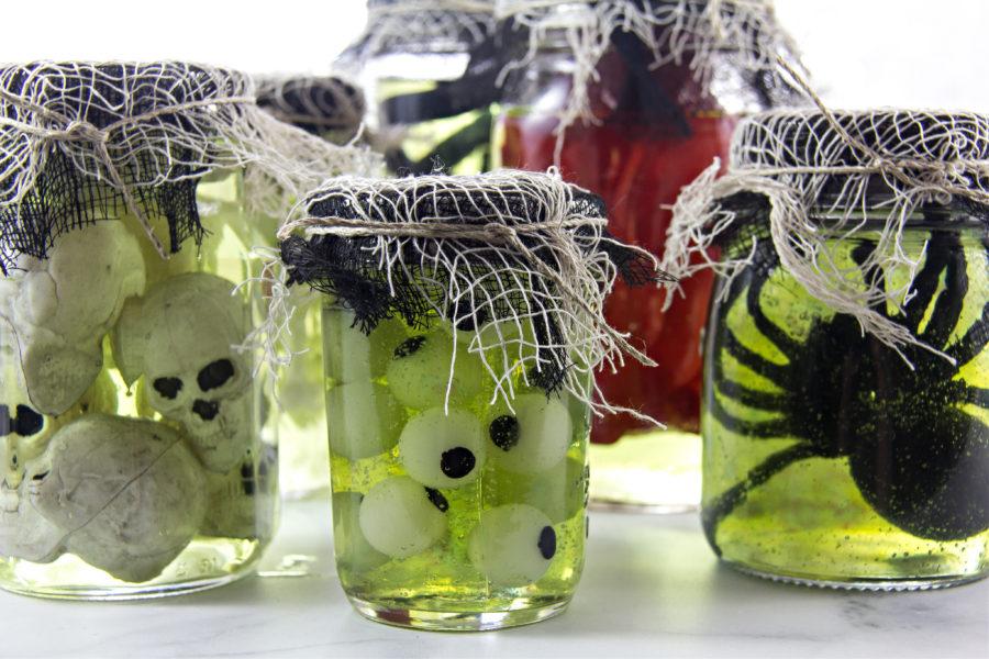 Halloween specimen jars