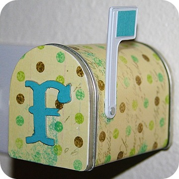 scrapbook paper mail box