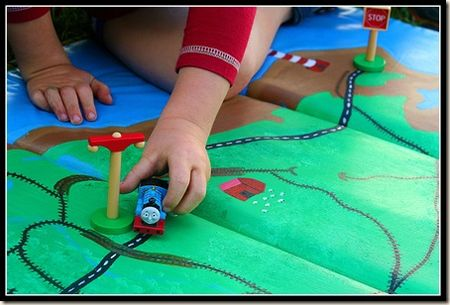 play mat to a train mat