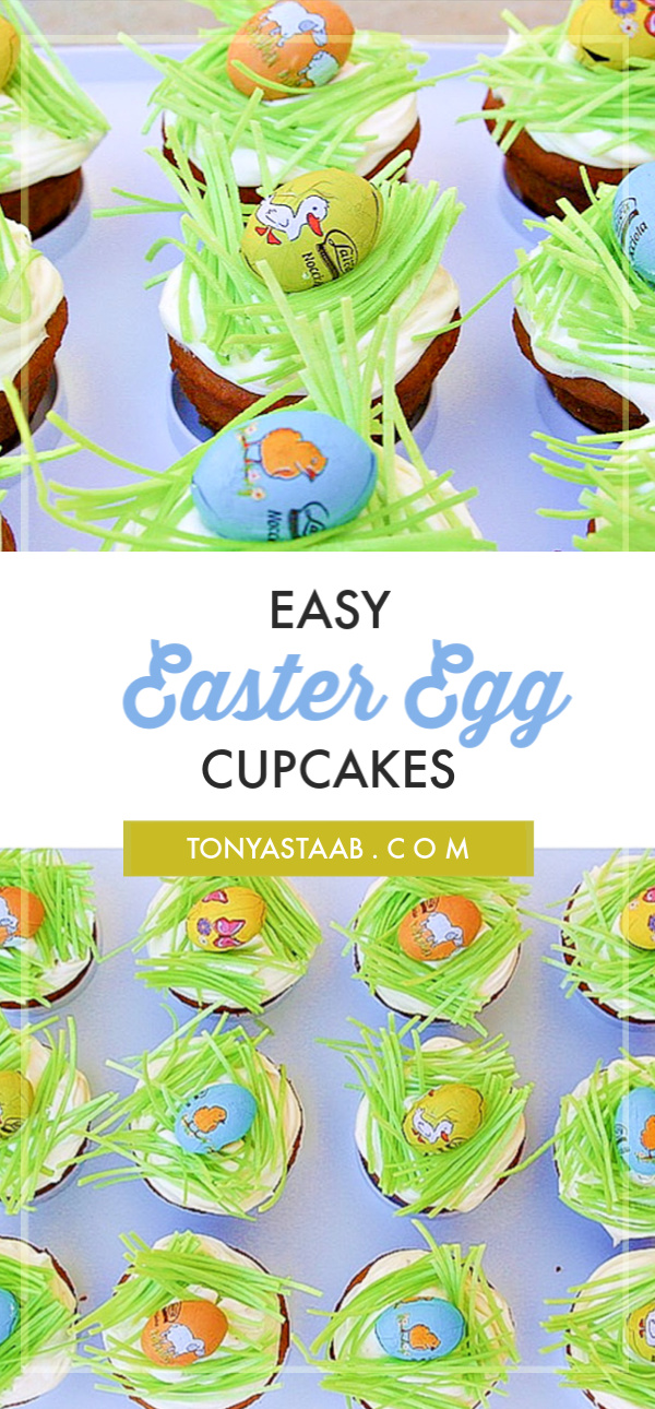 Easy Easter Egg topped cupakes for your Easter celebrations and potlucks