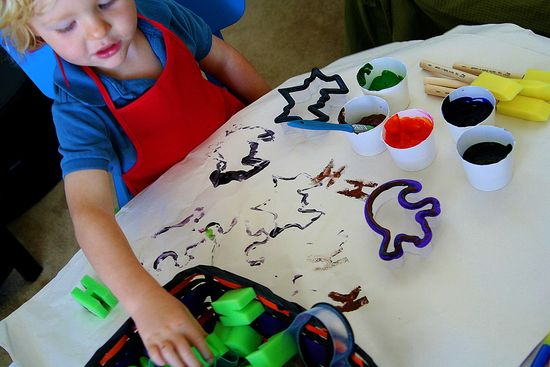 Halloween stamping crafts for kids
