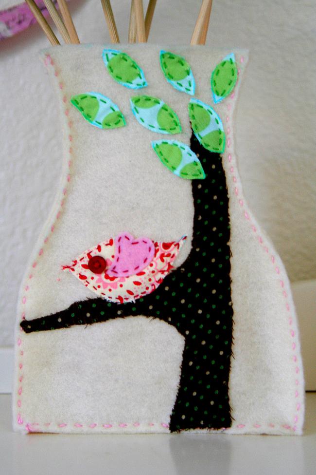 Handmade felt vase cover