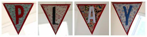 Handmade felt and fabric banner