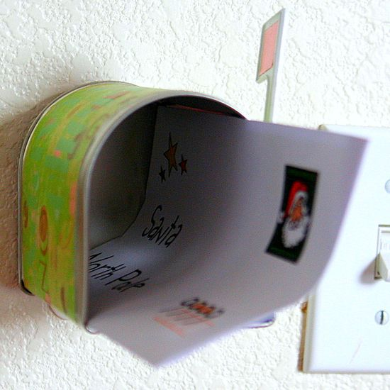 handmade mailbox for Santa letter