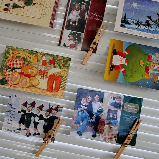 Christmas photo card holders