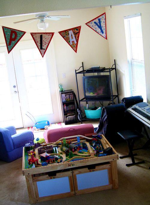 Handmade banner for kids play room