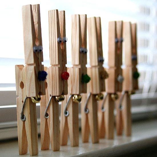 Reindeer peg Christmas crafts
