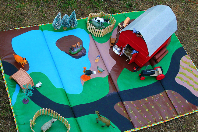 re-use childs play mat