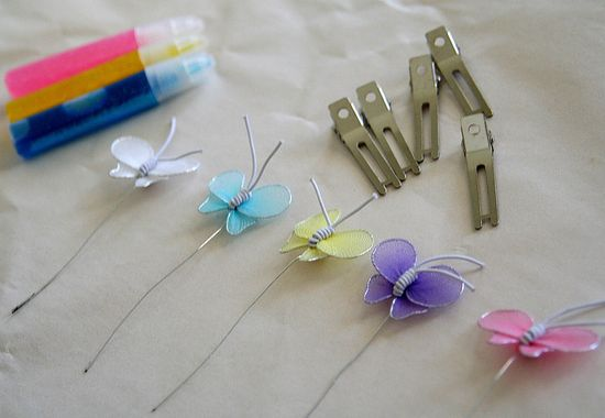 Butterfly Hairclips Kit