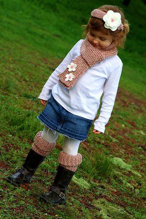 Bernat Softee Chunky knitting pattern for girls