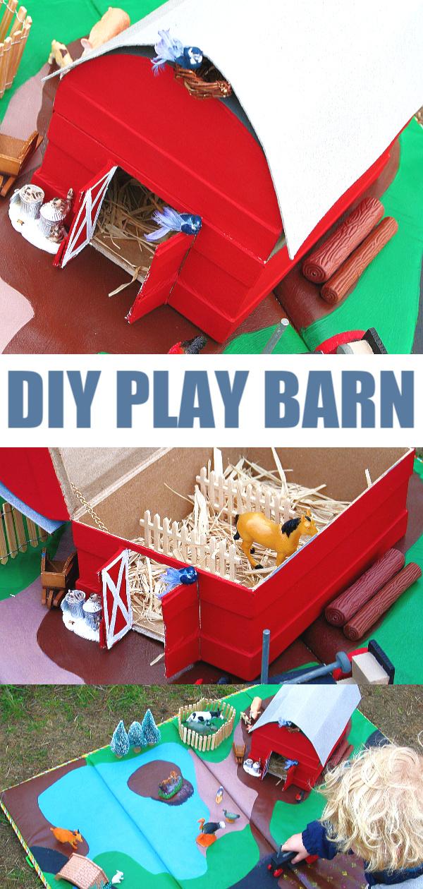 Diy play barn and farm for kids