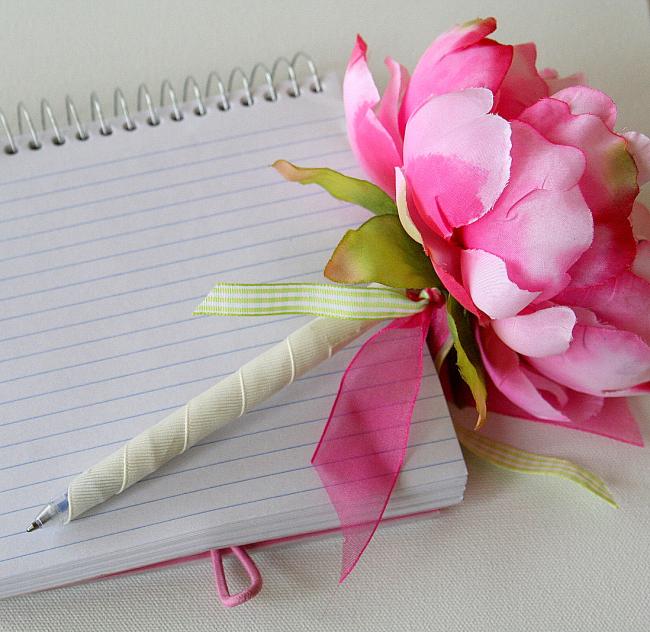 handmade flower pen