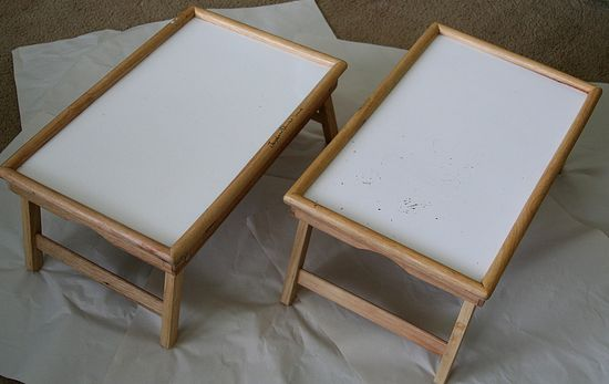 wood tray with legs