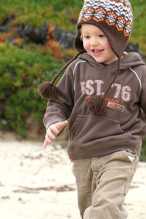 Carmel beach for kids