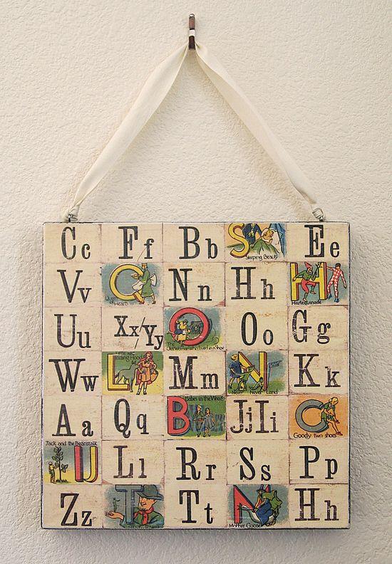 handmade alphabet artwork