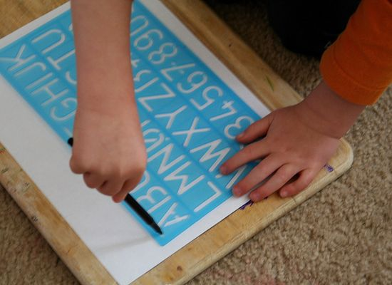 Stencils for toddlers
