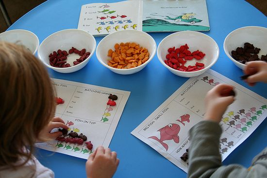 one fish, two fish activities for kids