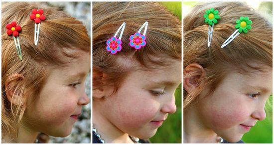Handmade flower hairclips