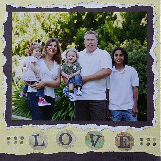Fathers Day scrapbook page