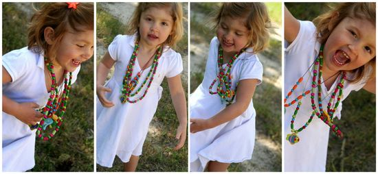 how to make beaded necklaces with girls