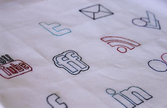 cross stitch social media buttons