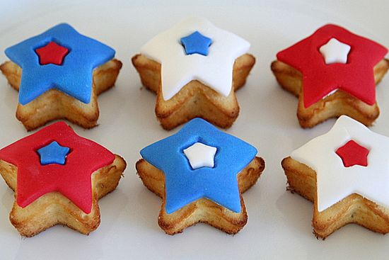 Star shaped cupcakes