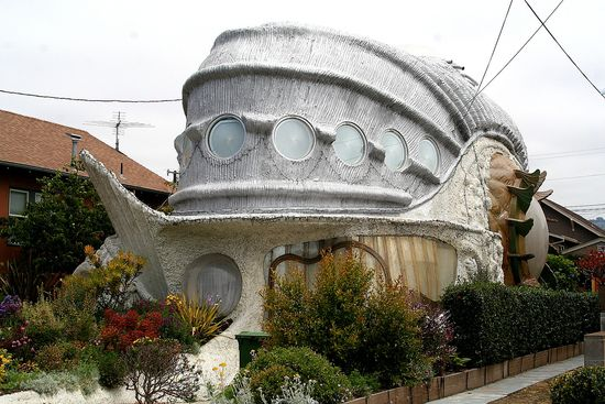 Fish-shaped house