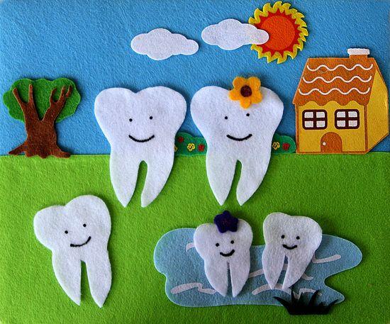 Tooth Family Felt Creation