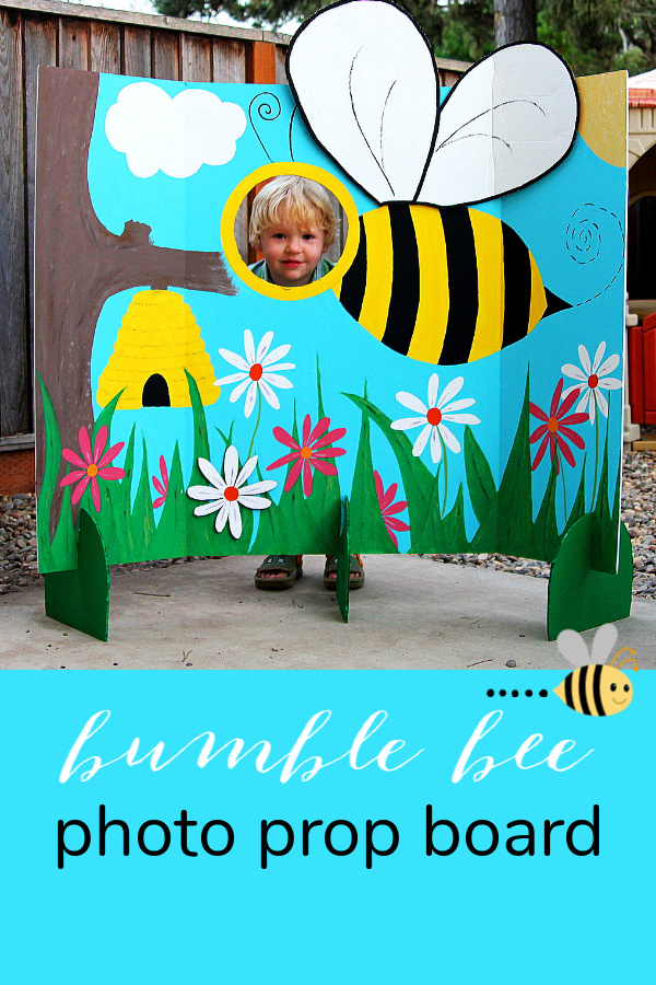 How to make a bumble bee photo prop board