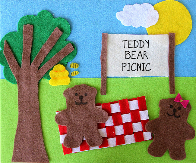 teddy bear picnic felt creation