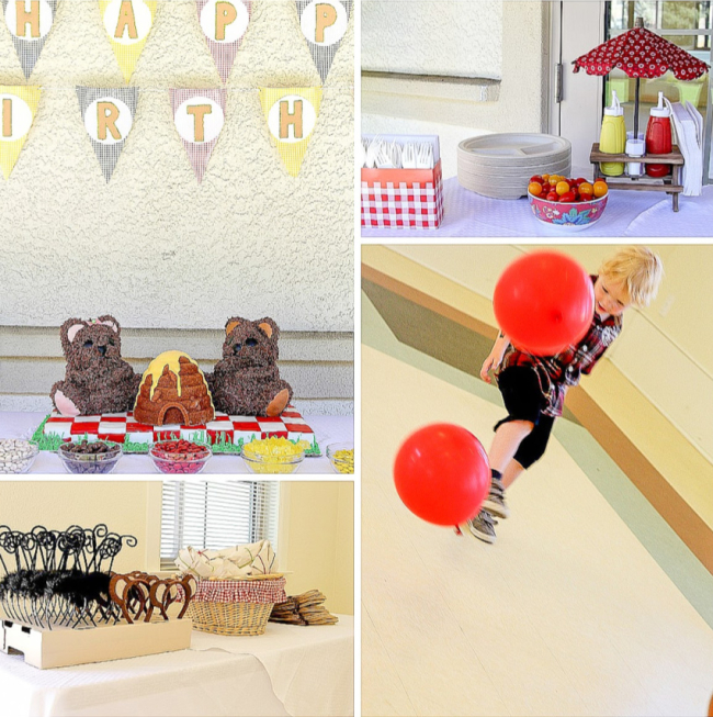 Teddy bear picnic birthday party for kids