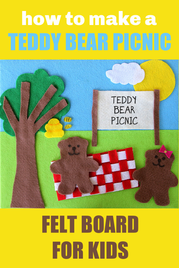 How to make a teddy bear picnic felt board for kids