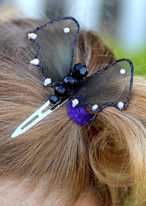 Handmade Bat Hair Clips