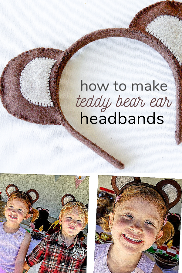 How to make teddy bear ear headbands