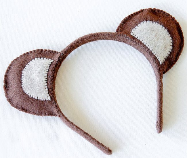 Bear ear headband diy