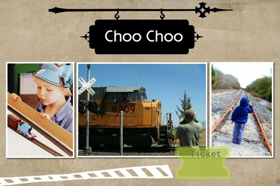 Train Day Scrapbook page