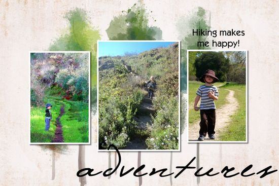Hiking Scrapbook page