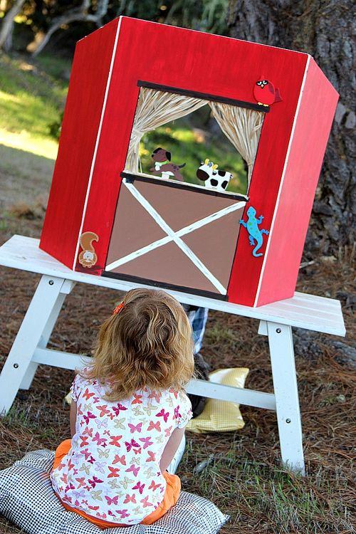barnyard puppet theater