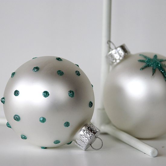 hand decorated ornaments