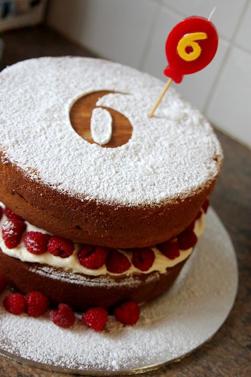 Raspberry Vanilla Swirl Cake