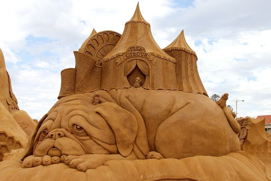Flea Circus Sand Sculpture