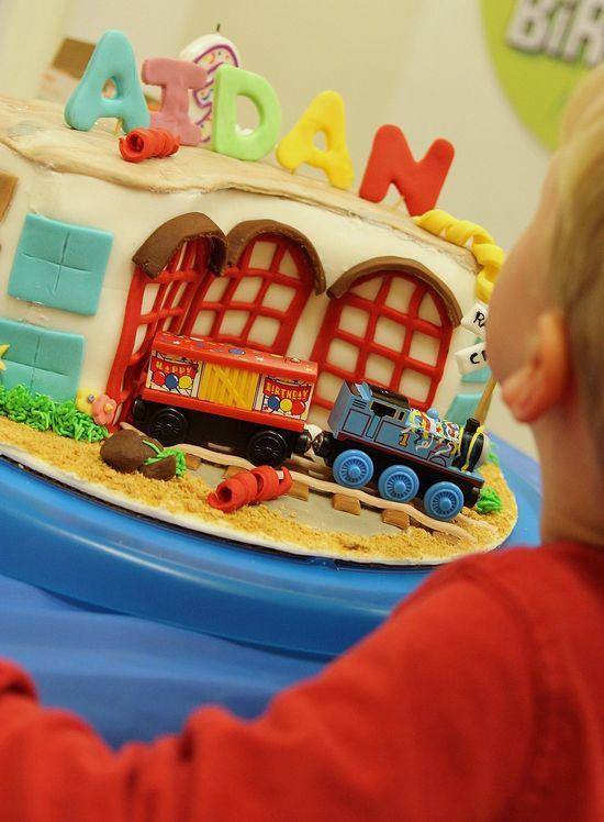 Thomas station cake