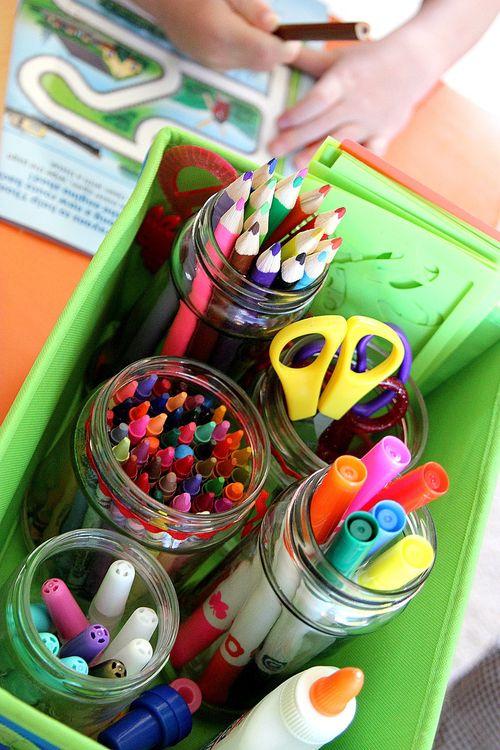 Children's art supplies holder