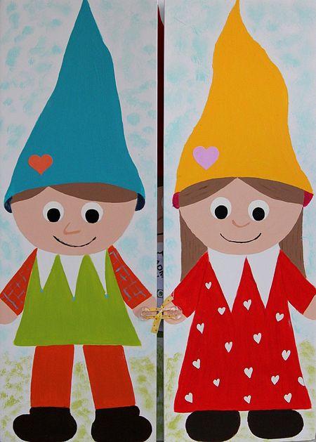 Handmade gnome card