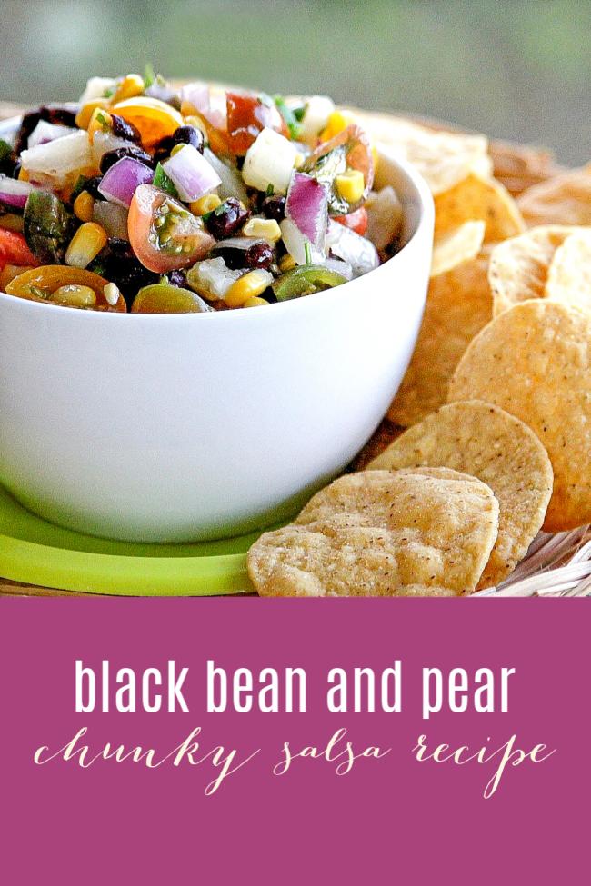 Black bean and pear chunky salsa recipe