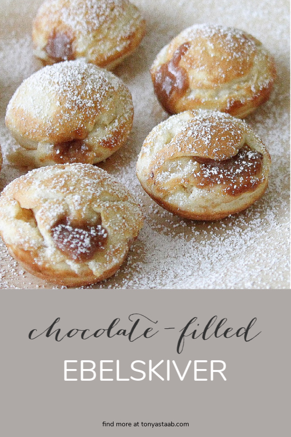 Delicious chocolate filled ebelskiver