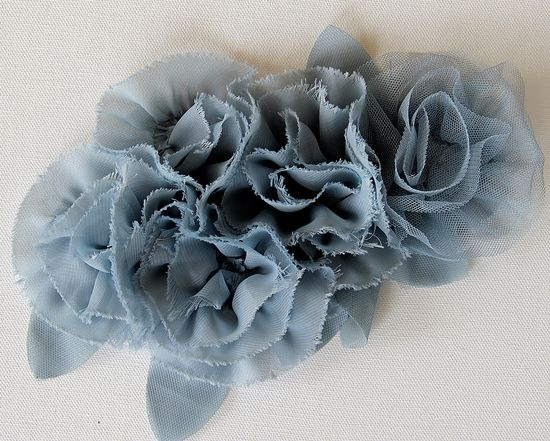 fabric and tulle flower