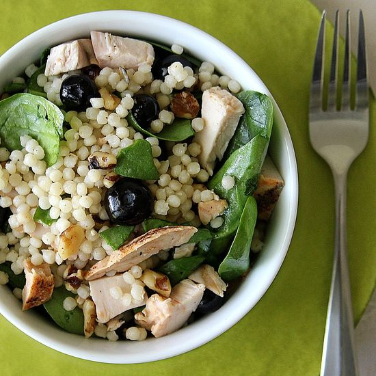 Couscous and blueberry salad