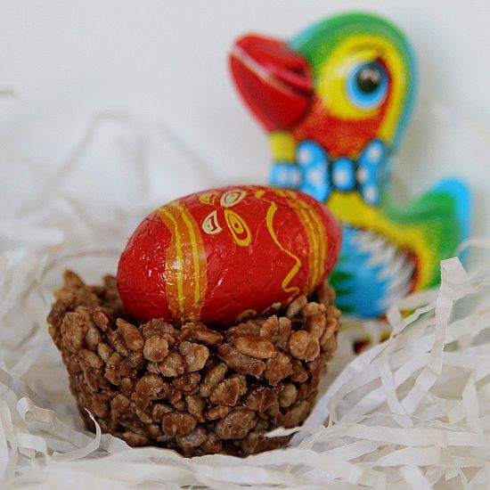 Chocolate Crackle Nests