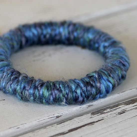 Handmade Yarn Bangle